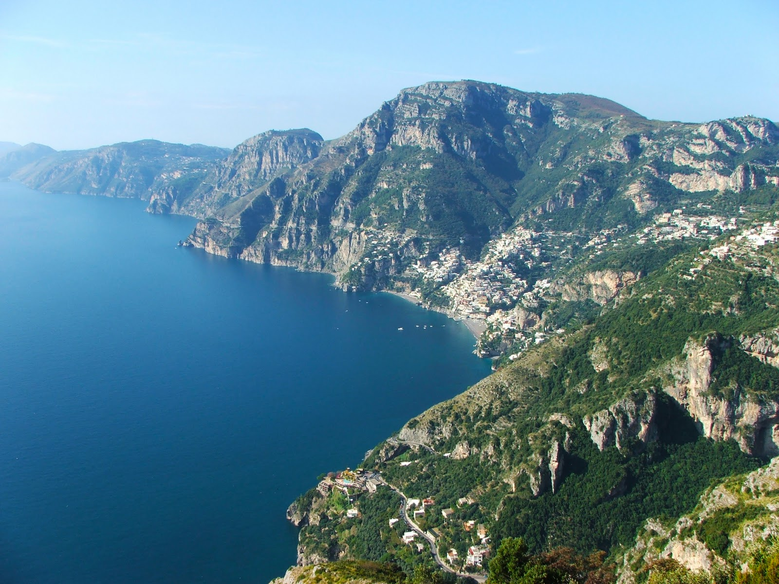 Trekking-path of the gods from Agerola to Positano
